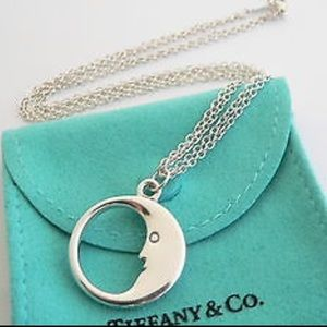 Tiffany & Co Silver Man on Moon Necklace